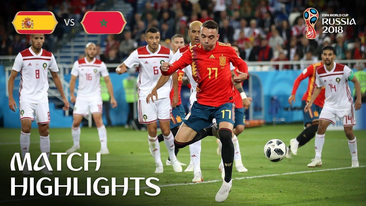 4932d323dcf Spain vs Morocco (25 Jun 2018) 🔥 Video Highlights - FootyRoom