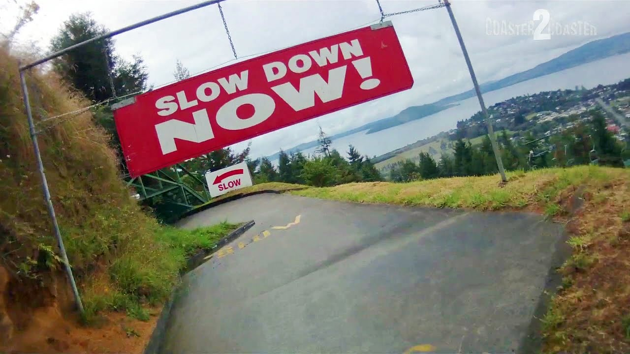 Skyline Rotorua Advanced Luge Track On Ride Pov In The Wet With Ampamp Singapore 2x Limited Brakes Youtube