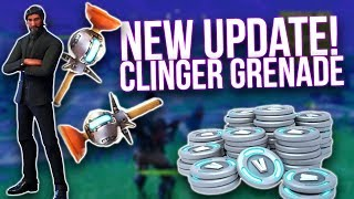 Fortnite: New Clinger Grenade Gameplay - NEW Update v3.6.0 Patch Notes!