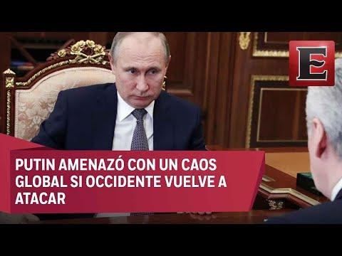 Vladimir Putin advierte que nuevos ataques a Siria conducirían al caos global