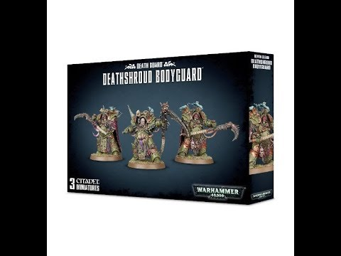 Games workshop : Deathshroud Bodyguard : 28mm Scale Model : In Box Review