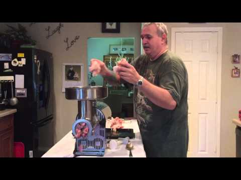 Making a raw diet, Weston 22 grinder