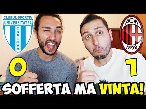 VITTORIA DI MISURA IMPORTANTISSIMA! CRAIOVA-MILAN 0-1