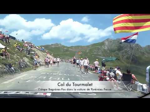 La 16e étape du Tour dans la voiture de Pyrénées Presse