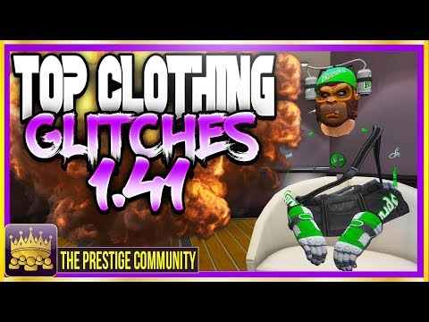 GTA 5 Online (SICK) TOP CLOTHING GLITCHES 1.41! BRANDED CLOTHING, TRASHMAN, INVISIBLE BODY PARTS!