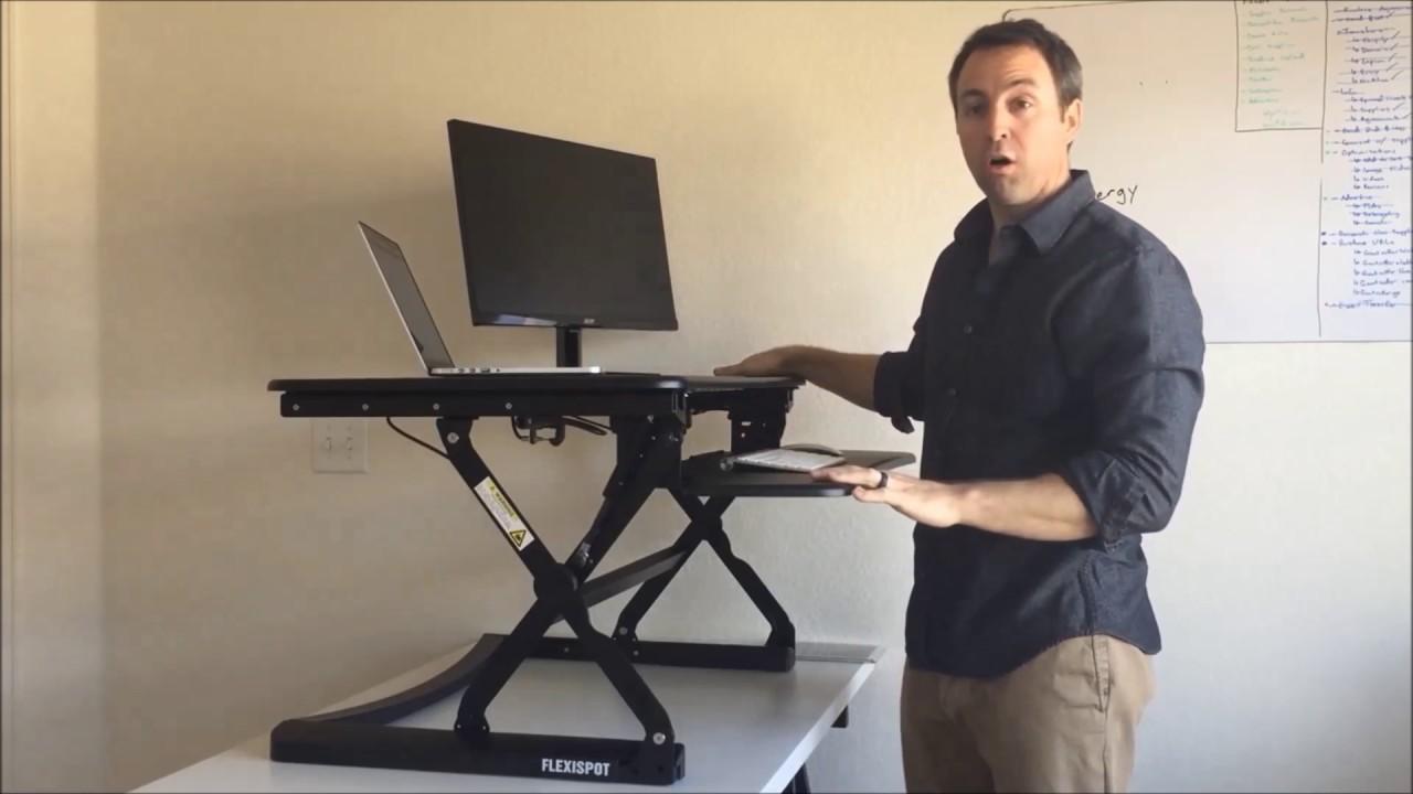 Flexispot M Series Standing Desk Converters Youtube
