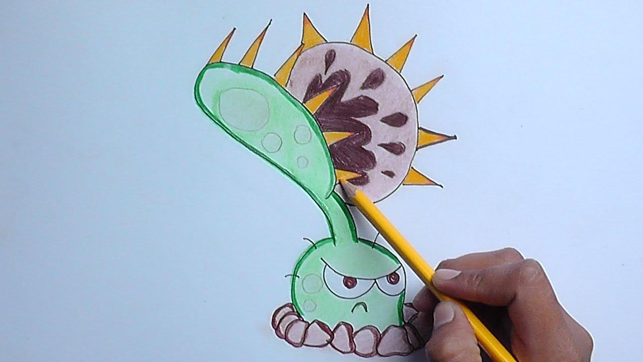 Dibujar a Venus Atrapamoscas (Plantas vs Zombies) - Draw Venus ...