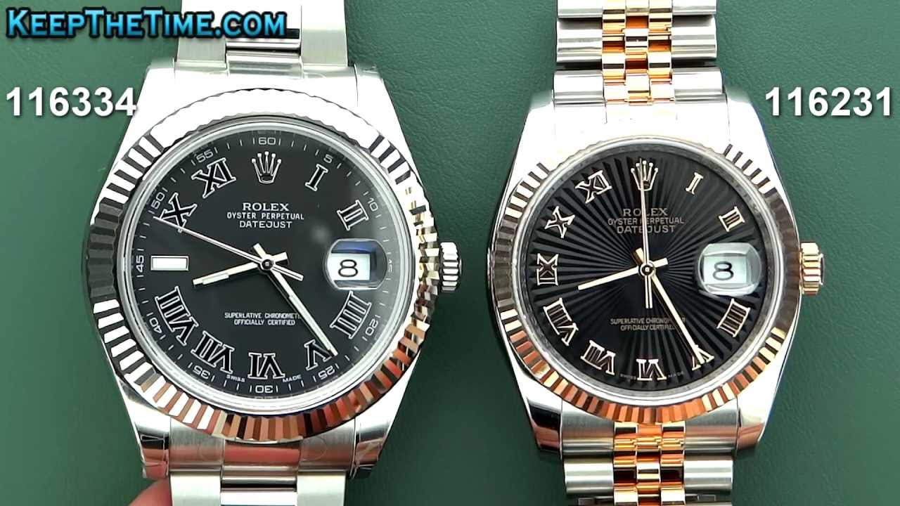 45188f96b49 ROLEX Datejust VS Datejust II (41mm vs 36mm) - YouTube