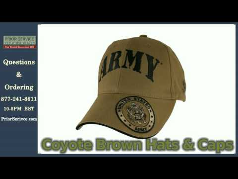 Coyote Brown Military Baseball Caps Hats | Prior Service