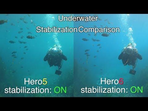 GoPro Hero6 Underwater Stabilization Comparison (with Hero5) GoPro Tip #597