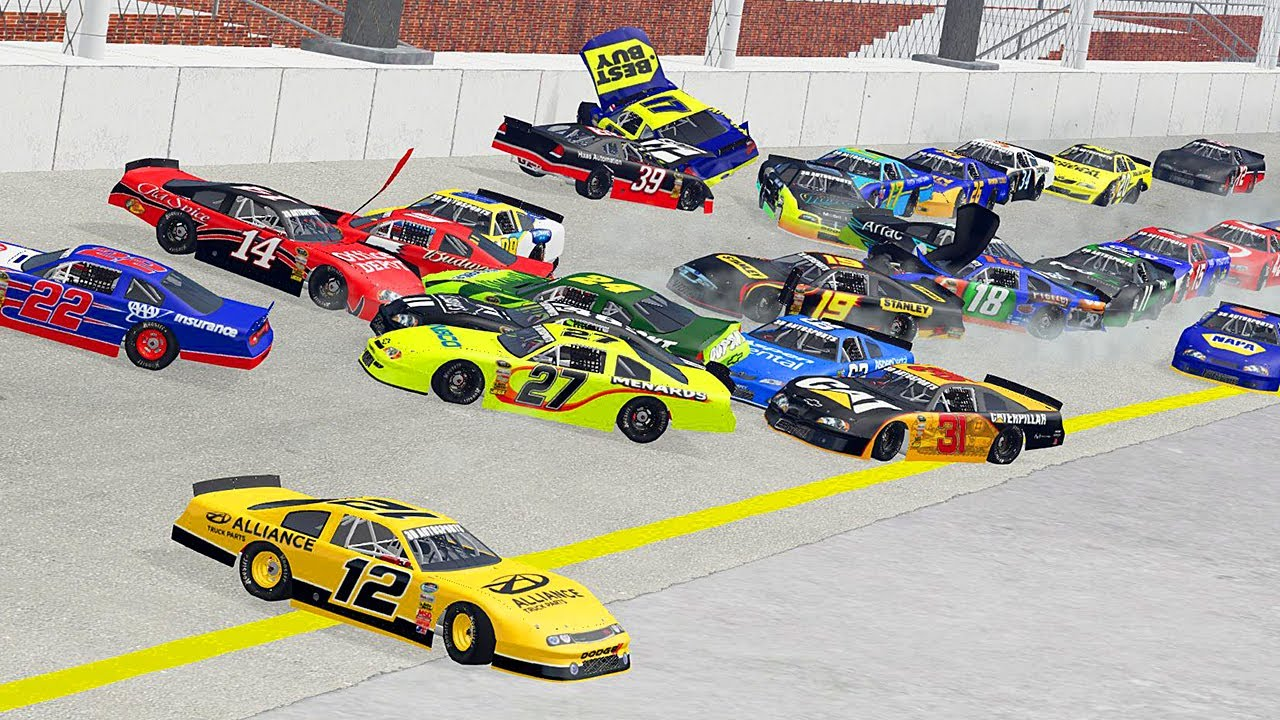 NASCAR Racing Crashes #9 | BeamNG Drive