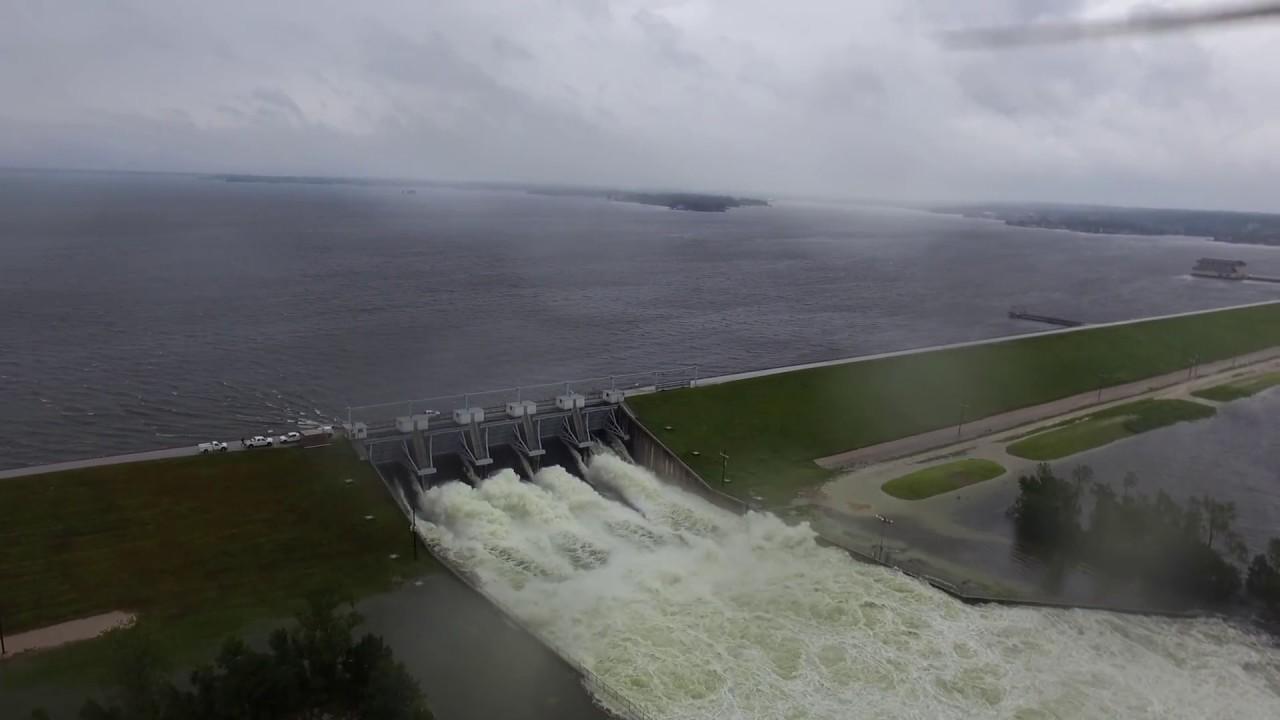 2017 Hurricane Harvey Lake Conroe Tx Dam Release Youtube