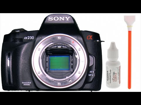 Sensor Cleaning Sony DSLR DIY