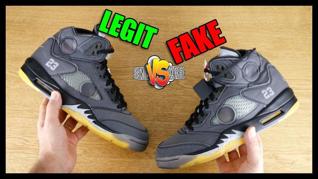 LEGIT vs FAKE Jordan x Off-White. Originali vs False