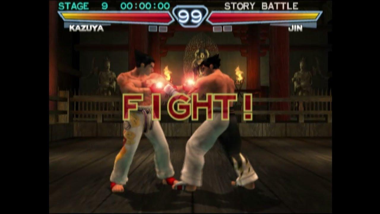 Tekken 4 Intro Main Menu Screen Ps2 2001 Cheats Code On For Kazuya