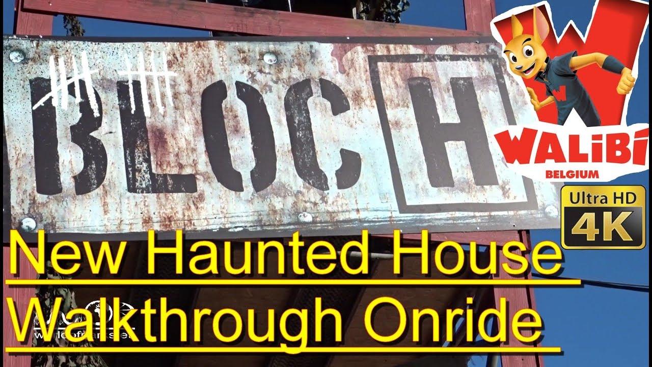 Walibi Belgium Halloween 2019.Halloween 2017 Bloc H Haunted House Walkthrough 4k Onride Pov New 2017 Walibi Belgium Halloween