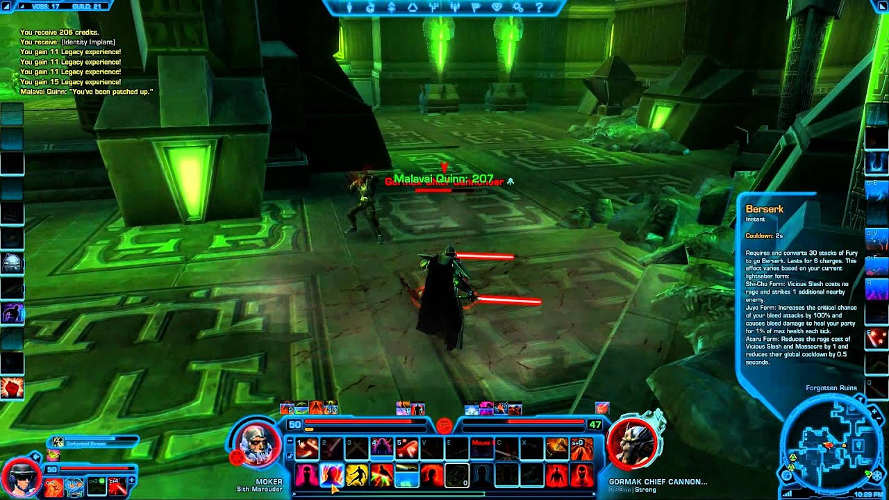 old footage:SWToR : Marauder Annihilation PVE Solo Gameplay (lvl ...