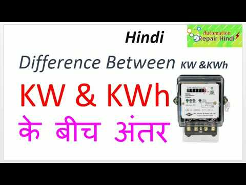 Difference between KW and KWH In Hindi