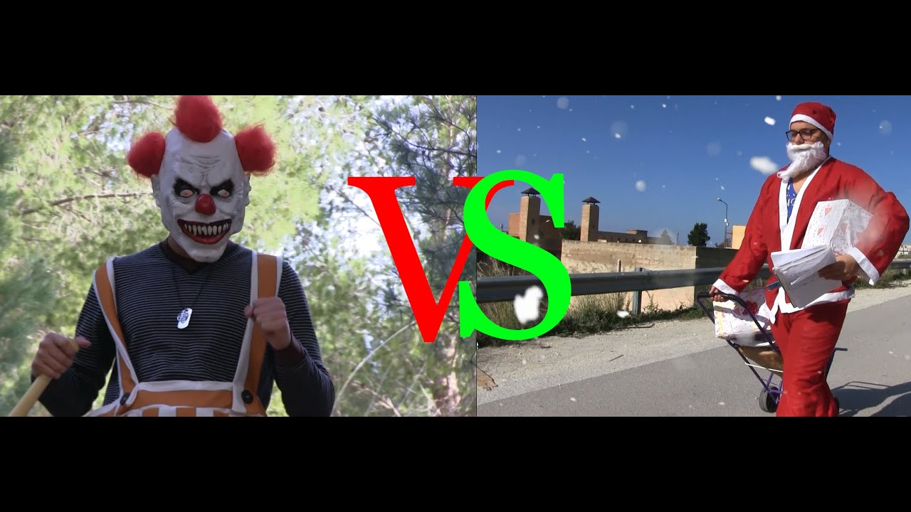 killer clown vs santa claus youtube