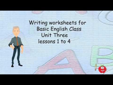Writing Worksheets For Basic English Class Unit 3 - YouTube
