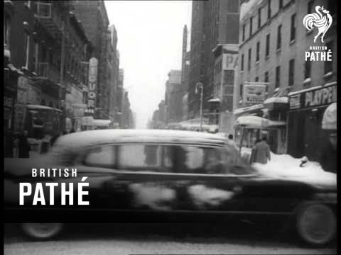 Record Snow Fall In New York (1961)