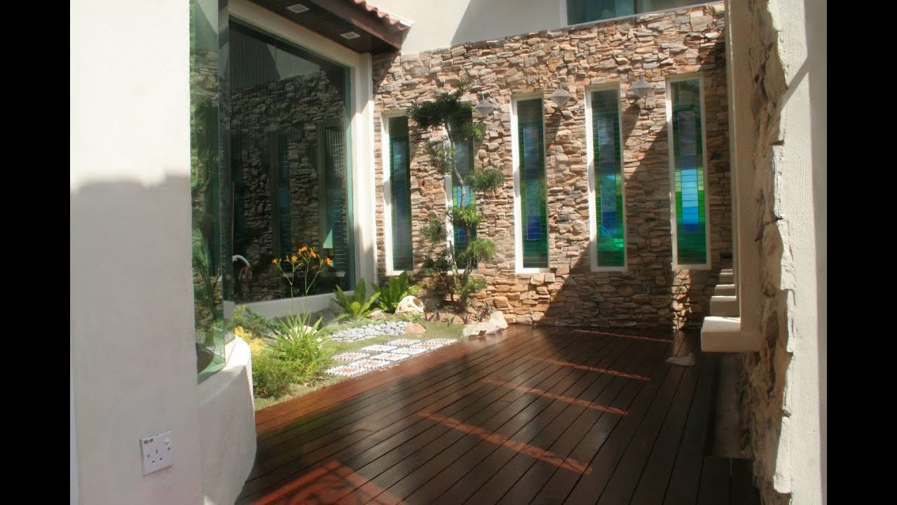 Modern courtyard house design youtube for Modern courtyard house designs