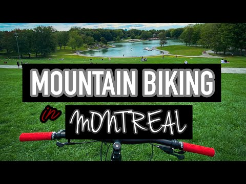 Montreal Canada- Trail Mountain Biking In Mont Royal