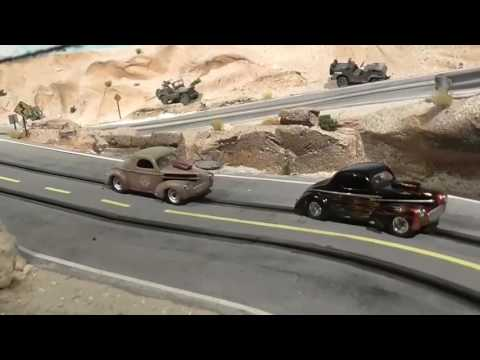 New stuff from Nevada. Carrera Go – scale 1/43 – Racetrack desert tutorial diorama
