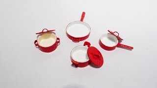 How To Make Dollhouse Pots And Saute Pan
