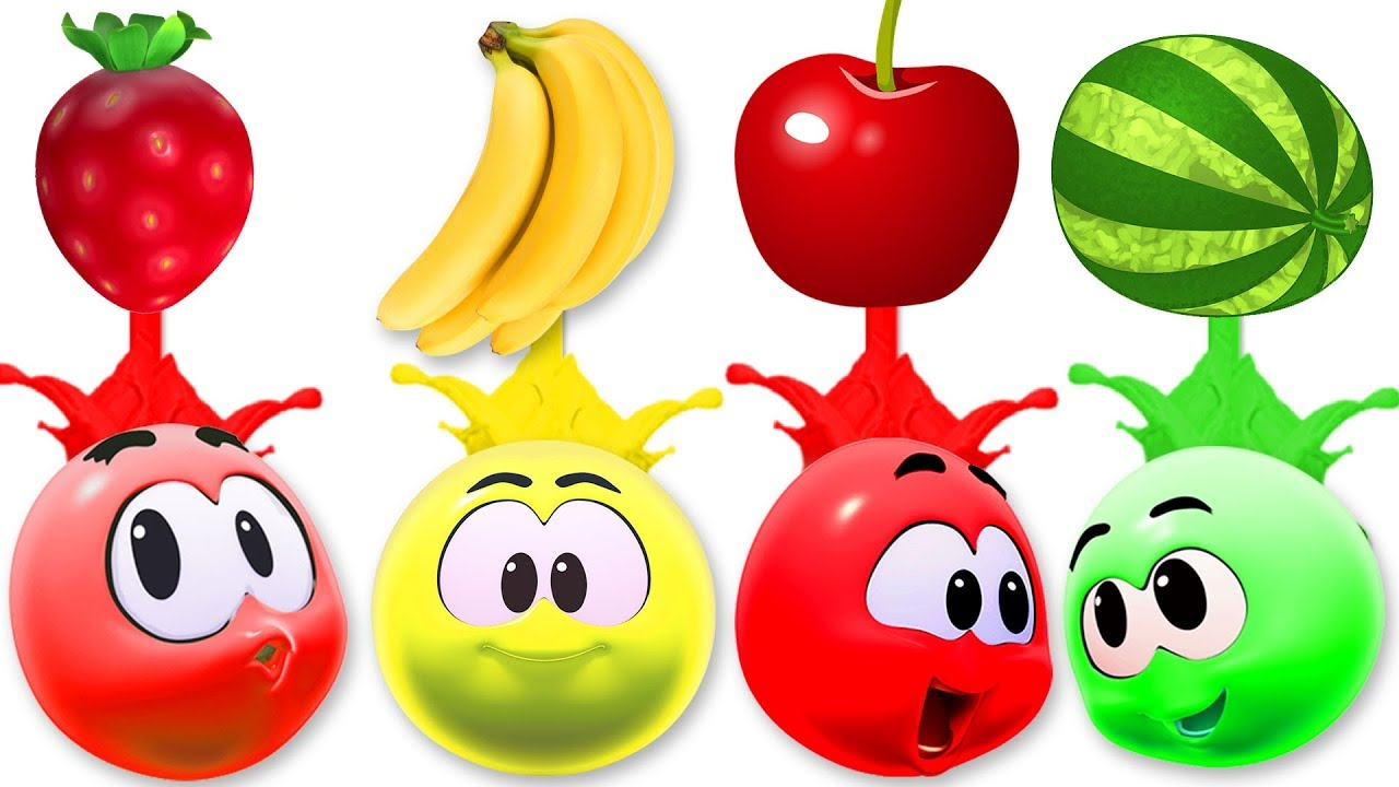 learn colors with fruits wonderballs colors for children by