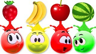 Learn Colors With fruits | WonderBalls Colors For Children By Cartoon Candy