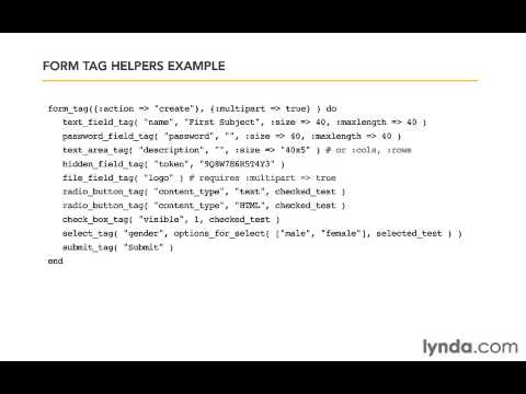Form tag helpers Ruby On Rail 4 - YouTube