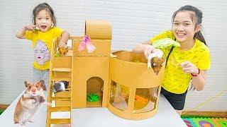 Cách Làm Biệt Thự Cho Thú Cưng Chuột Hamster - Trang Vlog
