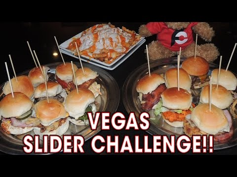 DELICIOUS SLIDER CHALLENGE W/ Buffalo Cheese Fries!!