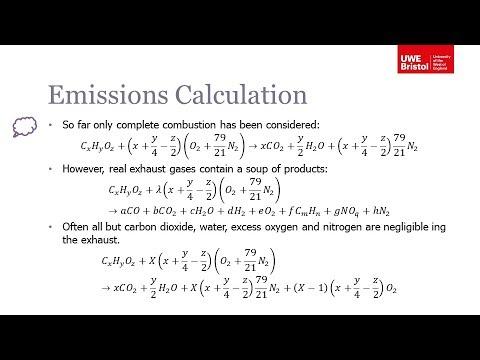 Emissions - Part 4 Of 6 - Emission Measurement And Calculation