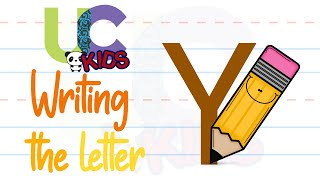 Write the letter Y | Alphabet Writing lesson for children | UCkids