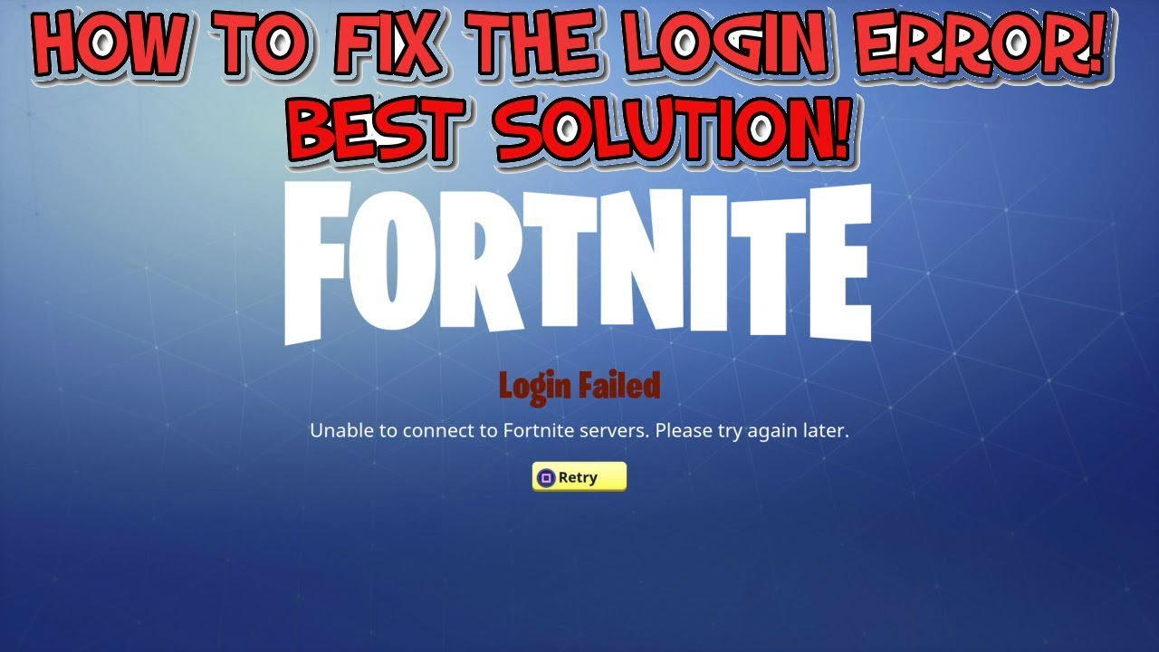how to fix the fortnite login error best solution - fortnite login error fix