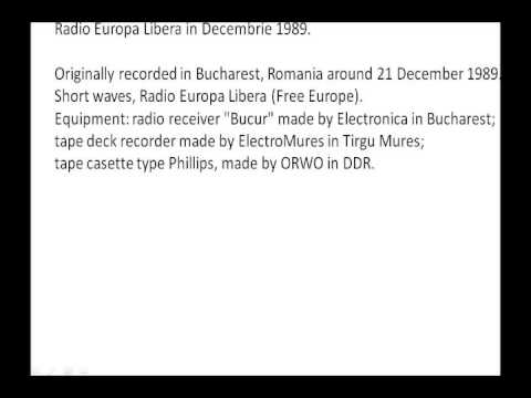 Europa Libera Bucuresti 21dec1989