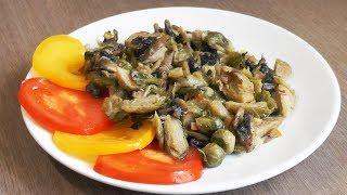 Брюссельская капуста с грибами в апельсиновом соусе - вегетарианский рецепт