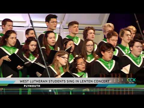 West Lutheran High School sings for Lent