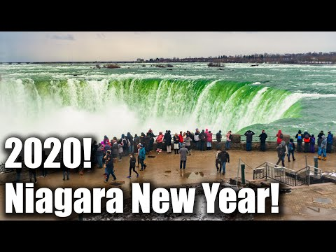 2020 New Years At Niagara Falls! 🇨🇦 Travel Vlog 4K