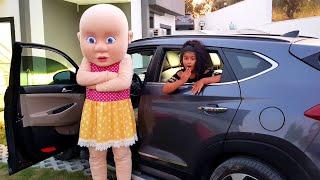 MİNİK Bebek Arabaya Giremedi YAĞMUR Okula Geç Kalacaktı. KARDEŞLER TV