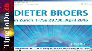 Aktuelle Veranstaltungen, Kongresse, Seminare, TimeToDo.ch 22.03.2016