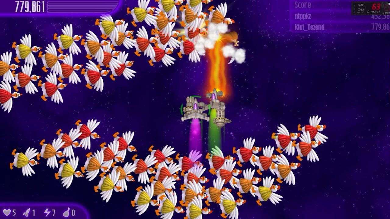 Phá đảo bắn gà 4 coop /w ntppkz I Chicken Invader 4 Coop /w ntppkz