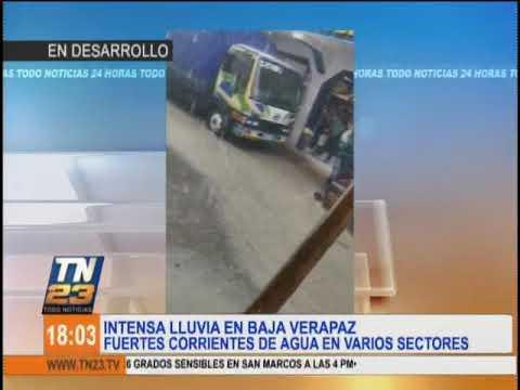 Intensa lluvia en Baja Verapaz
