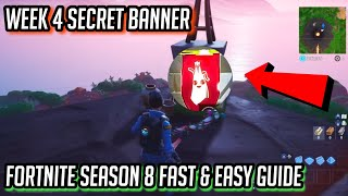 WEEK 4 SECRET BANNER LOCATION! | Fortnite Season 8 Secret Battle Star replaced