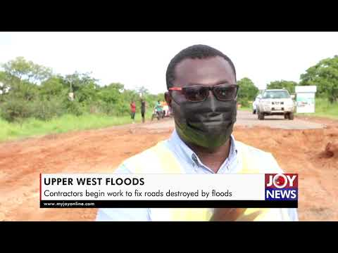 Contractor begins work on roads affected by flood in Upper West Region