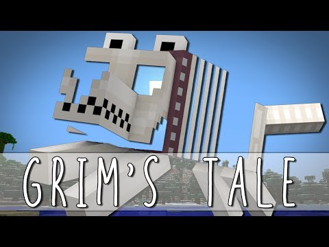 Thumbnail: GRIM'S TALE | How I Met Grim The Skeleton Dog | Minecraft