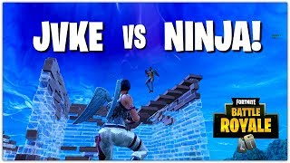Ninja vs JVKE | Intense Build Fight | BOTH POV'S + NINJA'S REACTION (Fortnite Battle Royale)