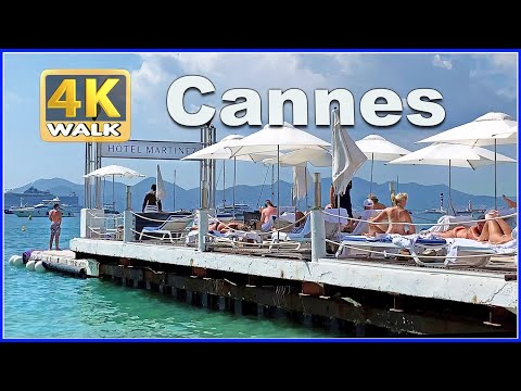 【4K】WALK CANNES France 4K video FRENCH RIVIERA travel vlog